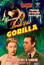 Jaquette BRIDE OF GORILLA