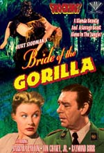 Jaquette BRIDE OF THE GORILLA
