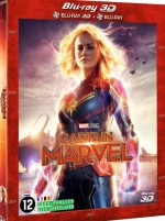 Jaquette Captain Marvel - Combo Blu-ray 3D + Blu-ray 2D