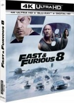Jaquette Fast & Furious 8 (4K Ultra HD + Blu-ray + Copie Digitale UltraViolet)