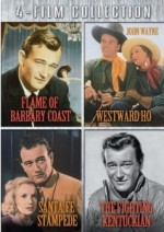 Jaquette Four-Film Collection (Flame of Barbary Coast / Santa Fe Stampede / Westward Ho / The Fighting Kentuckian)