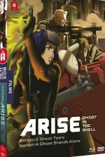 Jaquette Ghost in the Shell Arise - Les Films - Border 3 : Ghost Tears + Border 4 : Ghost Stands Alone (Combo Blu-ray + DVD)