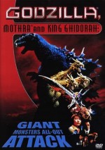 Jaquette GODZILLA, MOTHRA AND KING GHIDORAH, GIANT MONSTERS ALL-OUT ATTACK