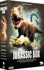 Jaquette Jurassic Box : L'île inconnue + La planète des dinosaures + The Beast of Hollow Mountain + King Dinosaur + Lost Continent + Two Lost Worlds