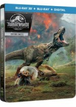 Jaquette Jurassic World : Fallen Kingdom (Combo Blu-ray 3D + Blu-ray + Digital - Édition boîtier SteelBook)
