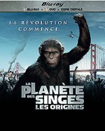 Jaquette La Planète des singes : Les origines (Blu-ray + DVD + Copie digitale)