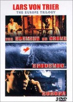 Jaquette Lars Von Trier - The Europe Trilogy : Element of Crime, Epidemic, Europa