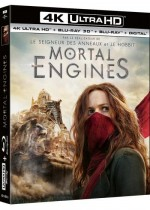 Jaquette Mortal Engines (4K Ultra HD + Blu-ray 3D + Blu-ray + Digital)