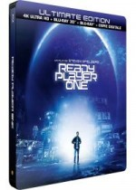 Jaquette Ready Player One (4K Ultra HD + Blu-ray 3D + Blu-ray + Digital HD - Édition boîtier SteelBook)