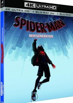 Jaquette Spider-Man : New Generation (4K Ultra HD + Blu-ray 3D + Blu-ray)