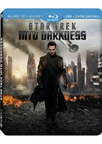 Jaquette Star Trek Into Darkness (Combo Blu-ray 3D + Blu-ray + DVD + Copie digitale- �dition bo�tier SteelBook)