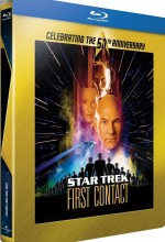 Jaquette Star Trek - Premier contact (50�me anniversaire Star Trek - �dition bo�tier SteelBook)